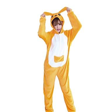 Kigurumi-Pyjamas Känguru Pyjamas-Einteiler Kostüm Flanell Cosplay Für Erwachsene Tiernachtwäsche Karikatur Halloween Fest / Feiertage