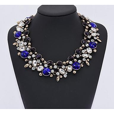 Női Luxus Zafír / Szintetikus akvamarin / Peridot Rose Gold / gyémánt / Kristály Gallér - Személyre szabott / Luxus / Klasszikus Kör /