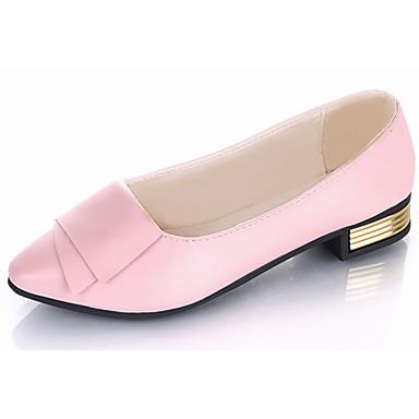 Damen Loafers & Slip-Ons Leuchtende Sohlen Sommer PU Normal Kombination Flacher Absatz Weiß Schwarz Rot Rosa Flach