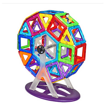 Magnetic Building Blocks / Tiles Magnetic Building Sets Circular Magnetic Kid's Toy Gift
