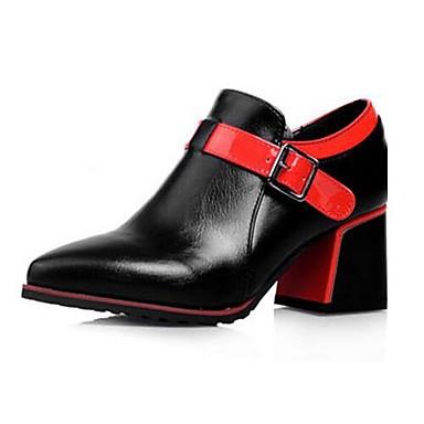 Damen Schuhe PU Herbst Komfort Stiefel Für Normal Weiß Schwarz Rot