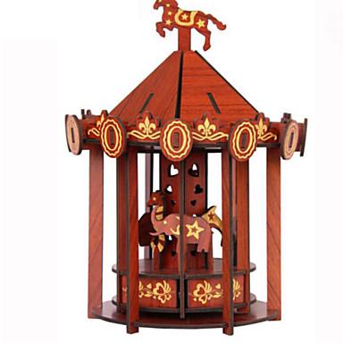 3D - Puzzle Holzpuzzle Spielzeuginstrumente Holzmodell Spielzeuge Anderen Piano Geige Musik Instrumente Pferd Architektur Karusell 3D