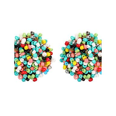 Női Perlice Beszúrós fülbevalók - Vintage, Bohém, Divat Sötétkék / Világos piros / Zöld Kompatibilitás Parti Napi Hétköznapi