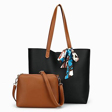 Women's Bags PU(Polyurethane) Bag Set 2 Pieces Purse Set Black / Red / Gray