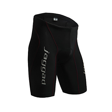 Jaggad Men's Cycling Padded Shorts Bike Padded Shorts / Chamois / Bottoms Solid Colored Spandex Black / Red Bike Wear