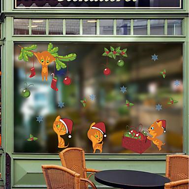 Weihnachten Romantik Feiertage Wand-Sticker Flugzeug-Wand Sticker Dekorative Wand Sticker Stoff Haus Dekoration Wandtattoo