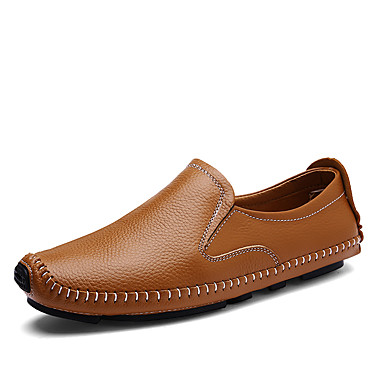 Férfi cipő Nappa Leather Tavasz Ősz Kényelmes Papucsok & Balerinacipők mert Hétköznapi Hivatal és karrier Party és Estélyi Fekete Barna