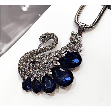 Women's Pendant Necklace - Swan Fashion Dark Blue Necklace Jewelry For Wedding, Party, Birthday / Graduation / Gift / Daily