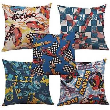 5 Stück Leinen Natürlich / Organisch Baumwolle / Leinen Kissenbezug, Texture Strand Design Euro Stützen