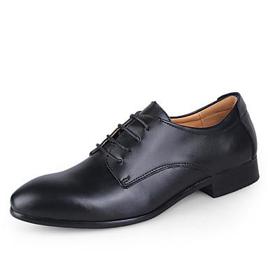 abordables Meilleures Ventes-Homme Chaussures habillées Cuir Printemps / Automne Business Chaussures de mariage Noir / Blanche / Bleu / Mariage / Lacet / EU40