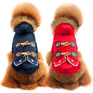Kutya Kabátok Kutyaruházat Egyszínű Piros Kék Pamut Jelmez Háziállatok számára Férfi Női Casual/hétköznapi Divat