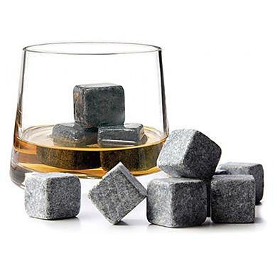 9pcs / mye whisky steiner is steiner drikker kjøligere kuber øl stein granitt posen drink kjøling isen smelter whisky steiner