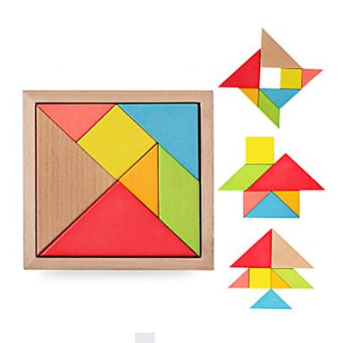 Holzpuzzle Bildungsspielsachen Quadratisch Dreieck 3D Spaß Klassisch 6 Jahre alt und höher