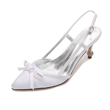 Women's Shoes Satin Spring / Summer Comfort / D'Orsay & Two-Piece / Basic Pump Wedding Shoes Cone Heel / Low Heel / Stiletto Heel Pointed