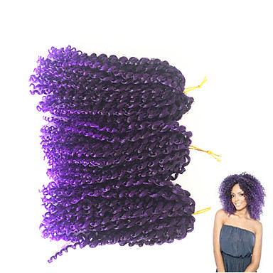 Braiding Hair Jerry Curl Curly Braids 100% kanekalon hair Hair Braids 100% kanekalon hair / There are 3 piece in one pack. Normally 5-6 pack are enough for a full head.