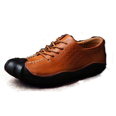 Férfi cipő Bőr Tavasz / Ősz Kényelmes Félcipők Fekete / Barna