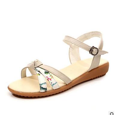 Damen Schuhe PU Sommer Komfort Sandalen Für Normal Weiß