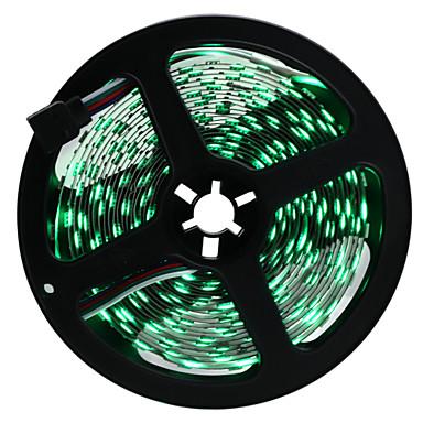HKV® Black 5M 5050 RGB NO Waterproof LED Strip DC12V 300LED LED Light Strip SMD5050 Ribbon LED RGB Strip