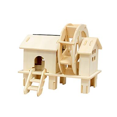 voordelige 3D-puzzels-Speelgoedauto's Speelgoed op zonne-energie 3D-puzzels Windmolen Huis Op Zonne-Energie DHZ Puinen Klassiek Kinderen Speeltjes Geschenk