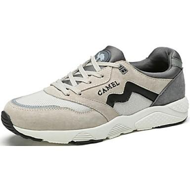 Herren Schuhe Stoff Frühling Herbst Komfort Sportschuhe Walking Schnürsenkel Für Normal Weiß Blau