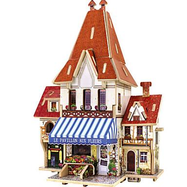 3D - Puzzle Holzpuzzle Haus Architektur 3D Heimwerken Holz Naturholz Unisex Geschenk