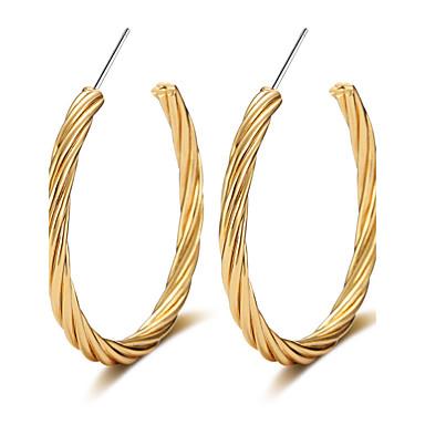 Női Luxus / Bojt / Túlméretezett Francia kapcsos fülbevalók - Luxus / Bojt / Alap Arany / Ezüst Circle Shape / Geometric Shape Fülbevaló
