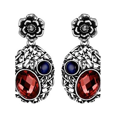 Damen Tropfen-Ohrringe Kubikzirkonia Obsidian Personalisiert Luxus Klassisch Retro Böhmische Grundlegend Handgemacht nette Art