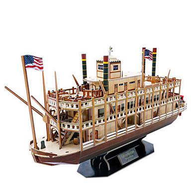 3D építőjátékok Fejtörő Hadihajó Hajó Fa Uniszex Ajándék