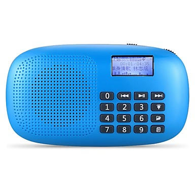 X360 FM Portable Radio Alarm Clock / Sleep Timer SD Card World Receiver White / Red / Blue