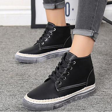 Damen Schuhe Echtes Leder PU Winter Komfort Modische Stiefel Stiefel Für Normal Schwarz Braun