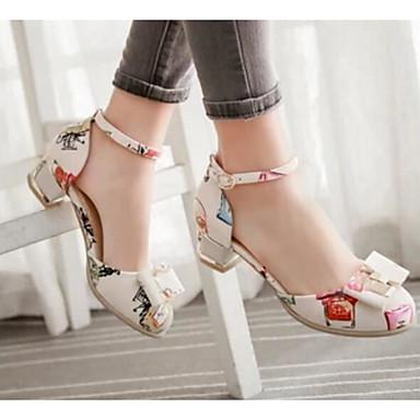 Damen Schuhe PU Herbst Komfort High Heels Für Normal Weiß Schwarz Beige