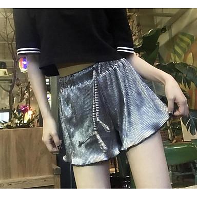 Damen Sexy Hohe Hüfthöhe Mikro-elastisch Kurze Hosen Gerade Hose Gestreift