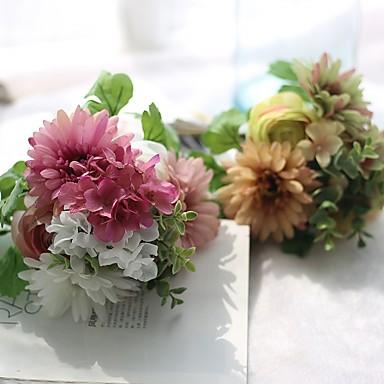 1 Ast Seide Polyester Lotus Tisch-Blumen Künstliche Blumen