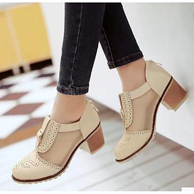 Damen Schuhe PU Sommer Komfort High Heels für Normal Schwarz / Beige / Rosa