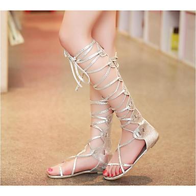 Damen Schuhe PU Sommer Komfort Stiefel Für Normal Gold Silber