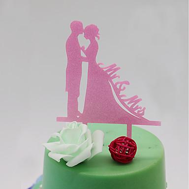كعكة توبر كلاسيكي زوجين بلاستيك مع 1 حقيبة PVC