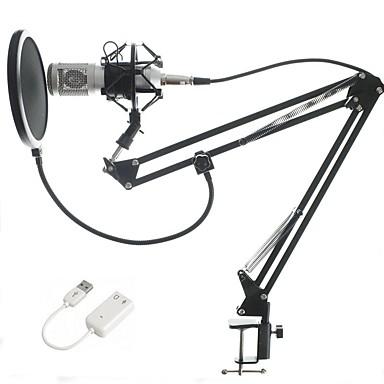 BM-8002 Vezetékes Mikrofon Kondenzátormikrofon Kézi mikrofon Kompatibilitás PC