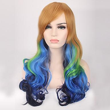 Jelmez parókák / Szintetikus parókák Hullámos Kék Női Sapka nélküli Jelmez paróka Hosszú Szintetikus haj