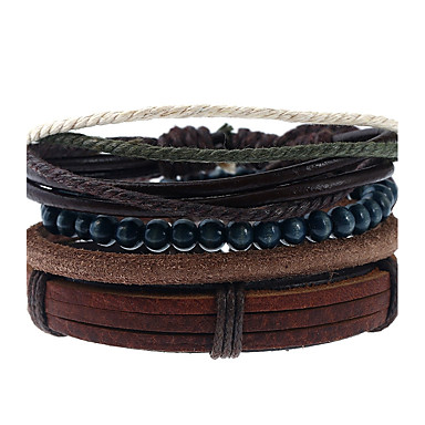 Men's / Women's Geometric Leather Bracelet - Leather Fashion Bracelet Rainbow For Wedding / Party