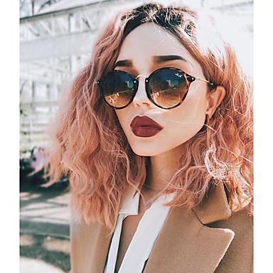 Szintetikus csipke front parókák Női Laza hullám Pink Bob frizura Szintetikus haj Pink Paróka Közepes Csipke eleje Rózsaszín Uniwigs