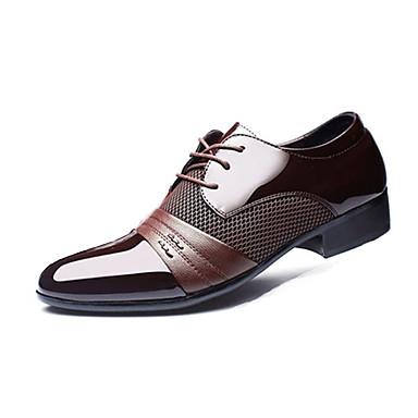 b121d9559 Hombre Zapatos formales PU Primavera   Otoño Negocios Oxfords Paseo Negro    Marrón   Boda