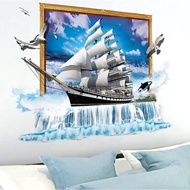 Romance Wall Stickers 3D Wall Stickers 3D, Plastic Home Decoration Wall Decal Wall