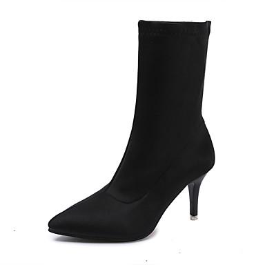 Damen Schuhe PU Sommer High Heels Stöckelabsatz Perlenstickerei für Normal Weiß Schwarz