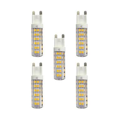 5pcs 4.5W 360lm G9 LED betűzős izzók T 76 LED gyöngyök SMD 2835 Meleg fehér / Fehér 220-240V / RoHs