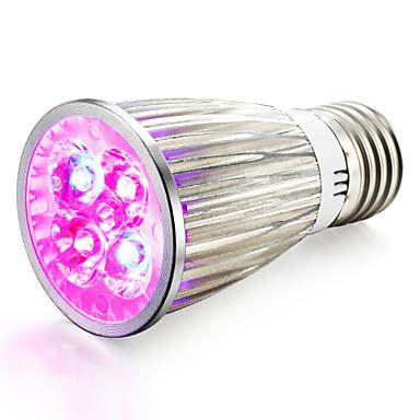1pç 800lm E14 GU10 E27 Lâmpada crescente 4 Contas LED LED de Alta Potência Azul Vermelho 85-265V