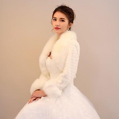 Rabbit Fur / Faux Fur Wedding / Party / Evening Women's Wrap With Pattern / Print / Polka Dot Shrugs