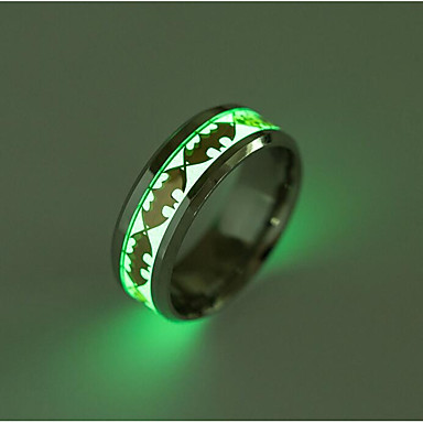 Men's Band Ring - Titanium Steel Fashion 6 / 7 / 8 Gold / Silver For Daily