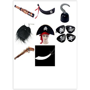 voordelige Maskers voor de feestdagen-Halloweenmaskers Hallloween figuren Halloween Accessoires Piraten Simulatie Piraat Acetaat / plastic Unisex Jongens Meisjes Speeltjes Geschenk