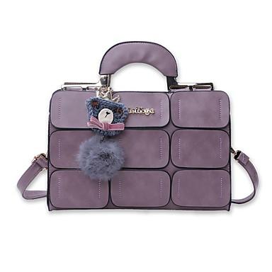 Women's Bags PU Shoulder Bag for Office & Career Gray / Purple / Dark Red