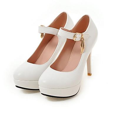 mujer zapatos pu primavera otoño confort innovador tacones tacón